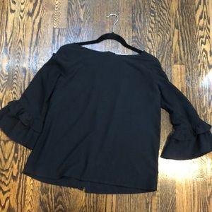 Women's bell sleeve blouse